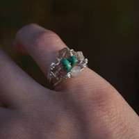 Stackable Rings: Turquoise, Moonstone, & Smokey Quartz