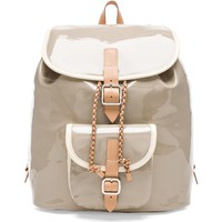 Harper Ave Mini Le Corb Backpack in Gray Patent