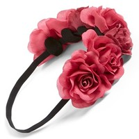 BP. 'Large Rose' Elastic Headband (Juniors)