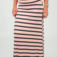 Lay It On The Line Skirt: Light Pink