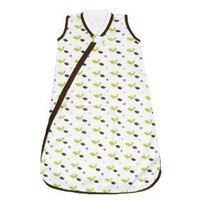 JJ Cole Wearable Blanket, Green Birds, 6-12 Months