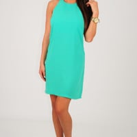 Feeling The Breeze Dress: Caribbean Green