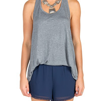 Native T Strap Tank - Gray