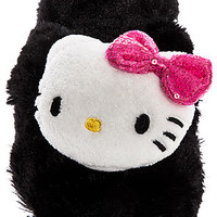 The Hello Kitty Plush Slipper in Black
