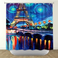 Shower Curtain Artistic Designer from DiaNoche Designs by Arist Aja-Ann Home Decor and Bathroom Ideas - Seine
