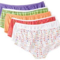 Fruit of the Loom Women`s 6 Pack Boyshort