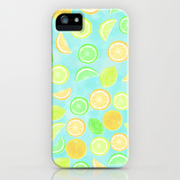 Citrus Jumble (Aqua) iPhone & iPod Case by Lisa Argyropoulos | Society6