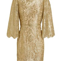 DOLCE & GABBANA | Metallic Lace Dress | Browns fashion & designer clothes & clothing