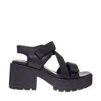 Vagabond Dioon Multi Strap Black Heeled Sandals