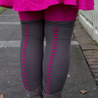 Heart Backseam Over the Knee - Sock Dreams