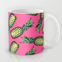 Pineapple Pattern Mug by Georgiana Paraschiv