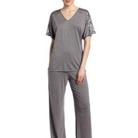 Natori Women`s Padma Inseam Short Sleeve Pyjama