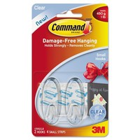 Command Small Hooks, Clear, 2-Hook, 4-Strip