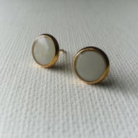 Gray Earrings - Gray Studs