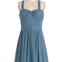 ModCloth Americana Mid-length Sleeveless A-line Lovely Lakeside Lunch Dress