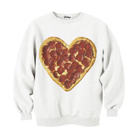 Heart Pizza Crew-neck Sweatshirt