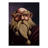 old dwarf fantasy art canvas print