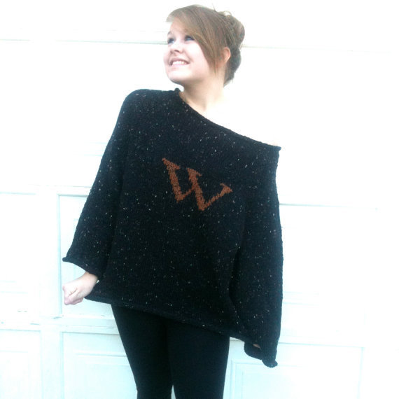 Knitting Pattern For Weasley Sweater : Harry Potter Sweater Weasley Sweater from GoodYarns on Etsy