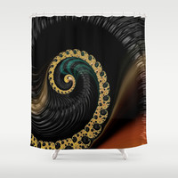 Black Liquor    Shower Curtain by OCDesigns_PwinArt