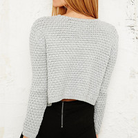 Pins & Needles Nanna Crop Jumper in Grey - Urban Outfitters
