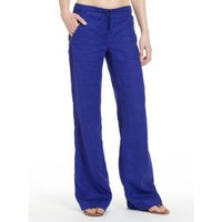 GUESS by Marciano Andi Linen Zip Pant, BLUE (MEDIUM)