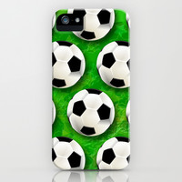 Soccer Ball Football Pattern iPhone & iPod Case by Bluedarkat Lem