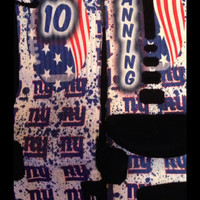 New York Giants Inspired Inspired Custom Nike Elite Socks