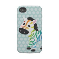 Rainbow Zebra IPhone Case Iphone 4 Tough Covers from Zazzle.com