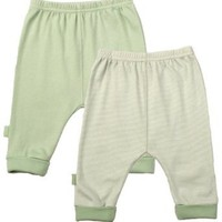 Kushies Everyday Layette 2 Pack Cuffed Pant