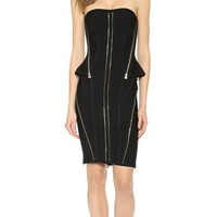 Xandra Zip Cocktail Dress