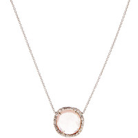 One Of A Kind Pink Sapphire And Diamond Pendant Necklace by Kimberly McDonald - Moda Operandi