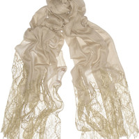 Valentino | Lace and wool-blend scarf | NET-A-PORTER.COM