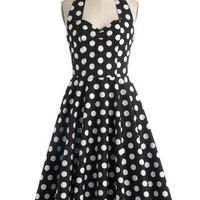 Like, Oh My Dot! Dress in Black | Mod Retro Vintage Dresses | ModCloth.com