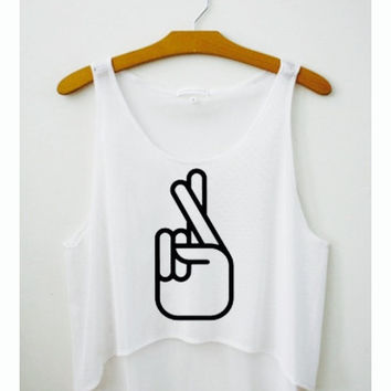 Luck fingers Crop Top