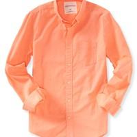 Long Sleeve Dyed Oxford Woven Shirt