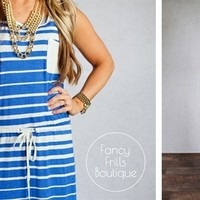 Striped Maxi Dress- It's Back!