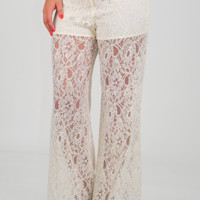 In A Summer Haze Pants: Cream