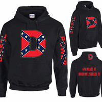 GM Makes It Duramax Shakes It Diesel Power Confederate D Rebel Flag Hoodie. Customized Mens Womens Hoodie For Chevy Duramax Diesel Trucks