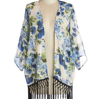 Savannah Stroll Jacket in Blue Bouquets | Mod Retro Vintage Jackets | ModCloth.com