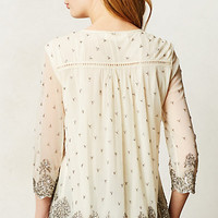 Mercury Beaded Peasant Blouse