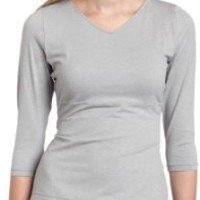 Flexees Women's Fat Free Dressing Back Smoothing 3/4 Sleeve Top