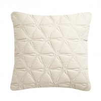 Quilted All Over Geo Cushion Ivory from Nitin Goyal London | Made By Nitin Goyal London | £45.00 | BOUF