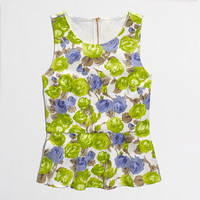 FACTORY PONTE PEPLUM TOP IN FLORAL