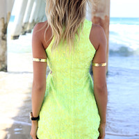 Neon Dress - Lime | SABO SKIRT