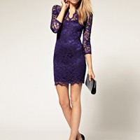 ASOS | ASOS Lace Dress With Scalloped Neck at ASOS