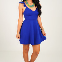 Cutout Of Control Dress: Royal Blue
