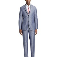 Milano Fit Chambray Suit - Brooks Brothers