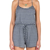 Striped Thin Strap Romper