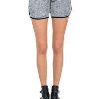 Terry Heathered Track Shorts