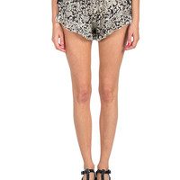 Baroque Chiffon Ruffle Trim Lounge Shorts